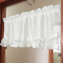Half Curtain Fashion Coffee Curtain White Lace Hem Curtain for Bar Kitchen Cabinet Door Children's Room E-014