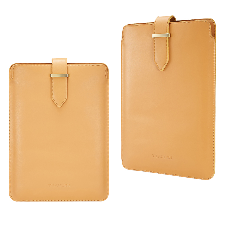 Genuine Leather Laptop Sleeve For Macbook Pro Air Retina 13 3 15 4 Notebook PC Messenger