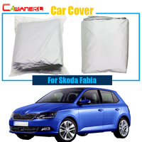 Cawanerl Car Cover Outdoor Anti-UV Rain Snow Sun Resistant Protector Sun Shade Cover For Skoda Rapid
