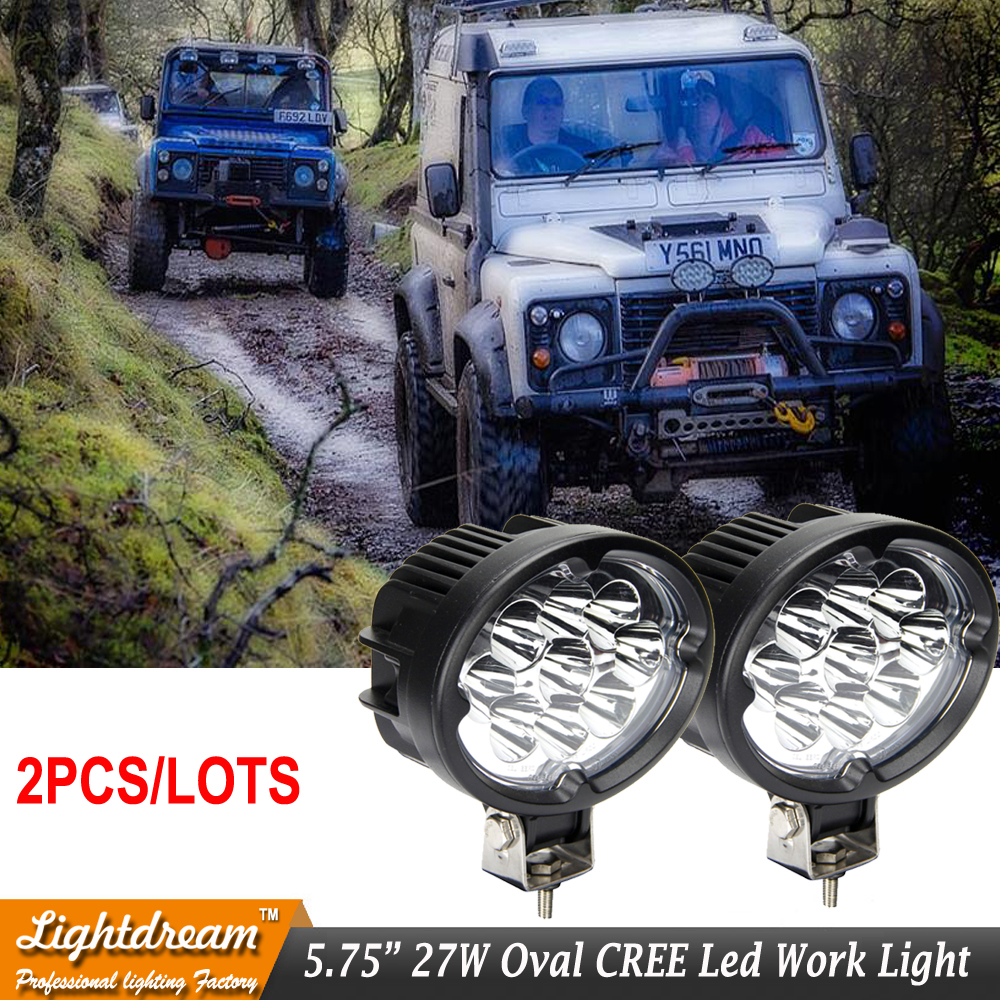 Oval Spot Flood LED Working Light for SUV 4WD Offroad ATV Car Truck Tractor 9 LEDs Oval Cup Reflection Headlight Fog lamps x2pcs 1pcs 120w 12 12v 24v led light bar spot flood combo beam led work light offroad led driving lamp for suv atv utv wagon 4wd 4x4