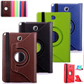"""HOT! 360 Rotating PU Leather Case Cover Stand For Samsung Galaxy Tab A T550 T555 P555 9.7"""" Tablet case Protective Skin +pen+film"""
