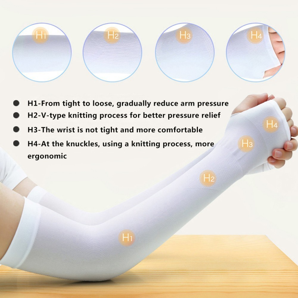 running - WorthWhile Ice Fabric Arm Sleeves UV Protection Mangas Warmers Summer Sports Running Cycling Driving Reflective Sunscreen