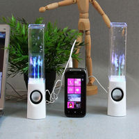 Newest 2PCS LED Light Dancing Water Music Fountain Light Speakers For PC Laptop For Phone Portable