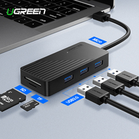 Ugreen 5 in 1 USB HUB with Card Reader 3 Port USB 3.0 HUB Splitter Micro USB Power Port for iMac Laptop Accessories USB HUB