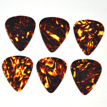 100pcs/lot Thin 0.46mm Celluloid Guitar Picks Plectrums Brown Turtle Tortoise