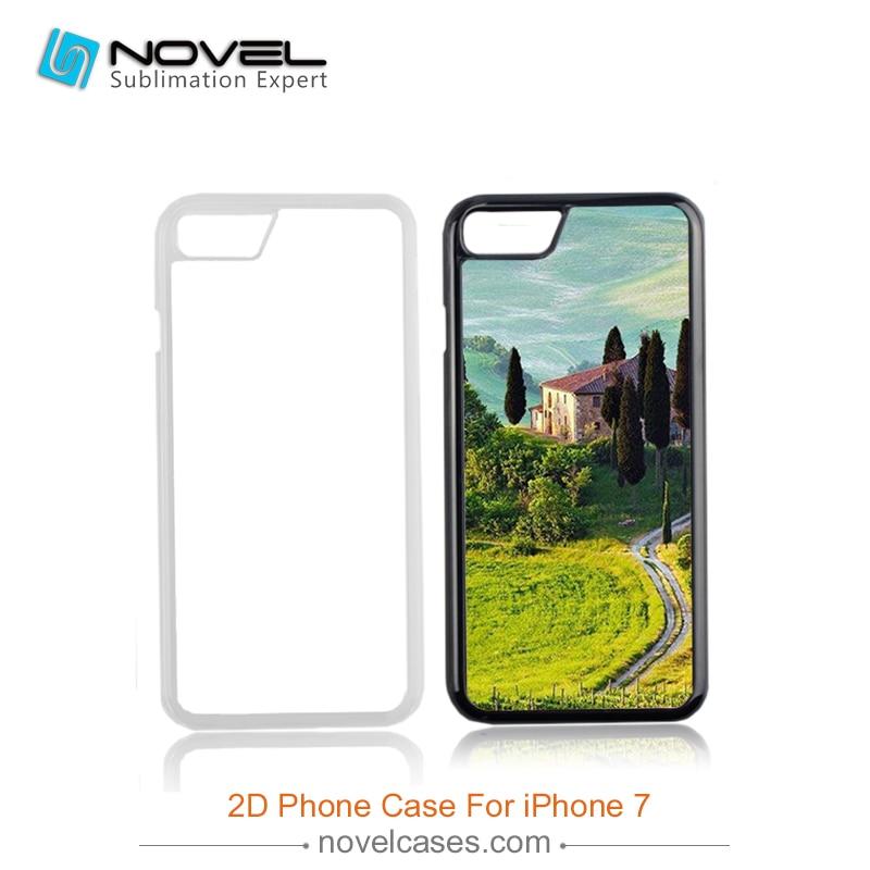 bilder für Großhandel 2D Metall Einsatz Fall Für iPhone7 Sublimation Blank Abdeckungs-fall