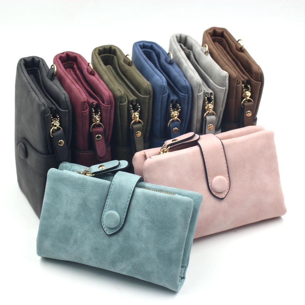 FashionTrendy Coin Purse Card LeatherWomen's Matte Wallet Short Small Fresh Student Wallet Cute Doka Women's Wallet  Money Bag