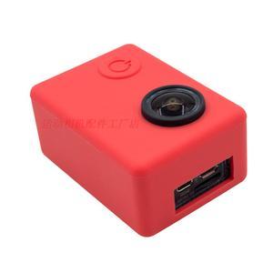 Image 3 - Clownfish Weiche Silikon Kamera Schutzhülle Tasche Rahmen für C30 SJCAM SJ4000/SJ5000 SJ7000 EKEN H9 Objektiv Kappe objektiv abdeckung Sport