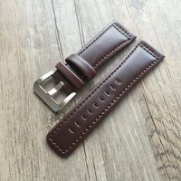 TJP 28mm Italy Oil Genuine Leather Watch Strap Red Brown WatchBands For Mens Seven Friday Watch