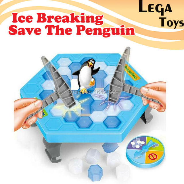 Ice Breaking Save The Penguin,penguin ice cubes save penguin knock ice block wall toy desktop  Great Family Fun educational toys