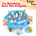 Romper el hielo Guardar El Pingüino, pingüino ice cubes guardar pingüino golpes hielo pared de bloques de juguete de escritorio Gran Diversión Familiar juguetes educativos