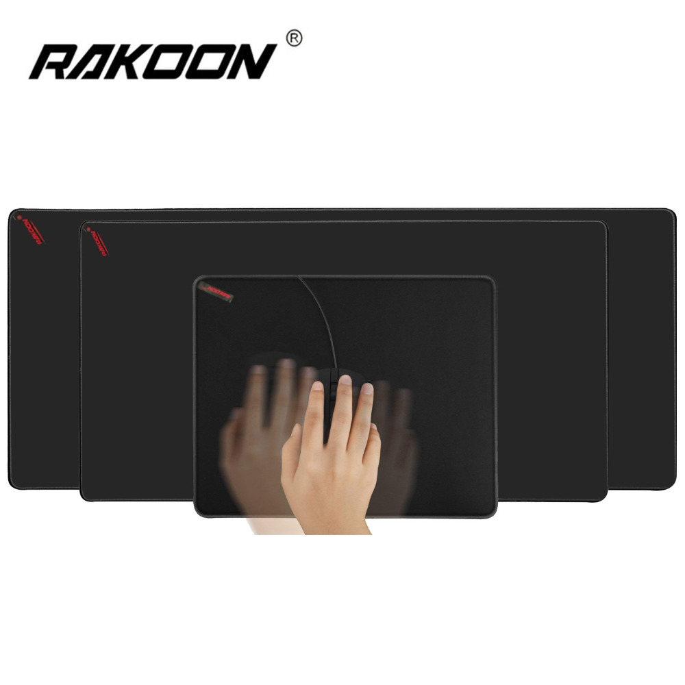 Rakoon Large Gaming Mouse Pad Natural Rubber Anti-slip PC Computer Mousepad Desk Mat Locking Edge for CS GO LOL Dota Gamer 25x21cm professional gaming mouse pad solid color locking edge mouse mat anti slip natural rubber gaming mouse mat for pc laptop