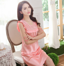 Free Shipping2016 New  summer style Nightgown Nightdress pijama Ladies Sleepwear Women nightwear AZ612