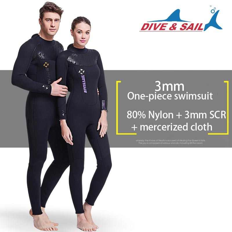 71943c154cc new 3mm Neoprene Wetsuit Women Men Scuba Diving Suit High Elastic Snorkeling  long sleeve Swimwear Sailing