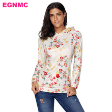 EGNMC Novelty Women Pullovers Sweater Floral Print Tracksuits Women gardigan hooded Girl Autumn Winter Sweaters(China)