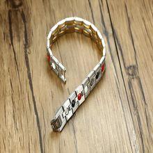 Высокое качество повседневные браслеты с магнитами мужские классические
