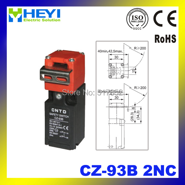 Door Switch Safety : Safety door switch limit micro cz b nc in