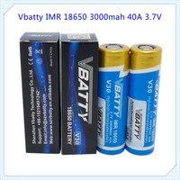 Бесплатная доставка оригинальный vbatty V30 18650 3.7 В 3000 мАч Аккумулятор Новый V30 40A перезаряжаемый аккумулятор для электронной сигареты Вдыхание ...