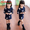 2016 Girls Autumn New Skirt Suits Cute Cartoon Bunny Sweater+Vest Skirt 2pcs for Baby Girls Fashion Autumn Clothes Sets