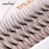 NAVINA 500/pcs New Arrival Luxury Eyelashes 6d Natrual mink hair silk lashes eyelash extensions fake lashes 0.07 thickness