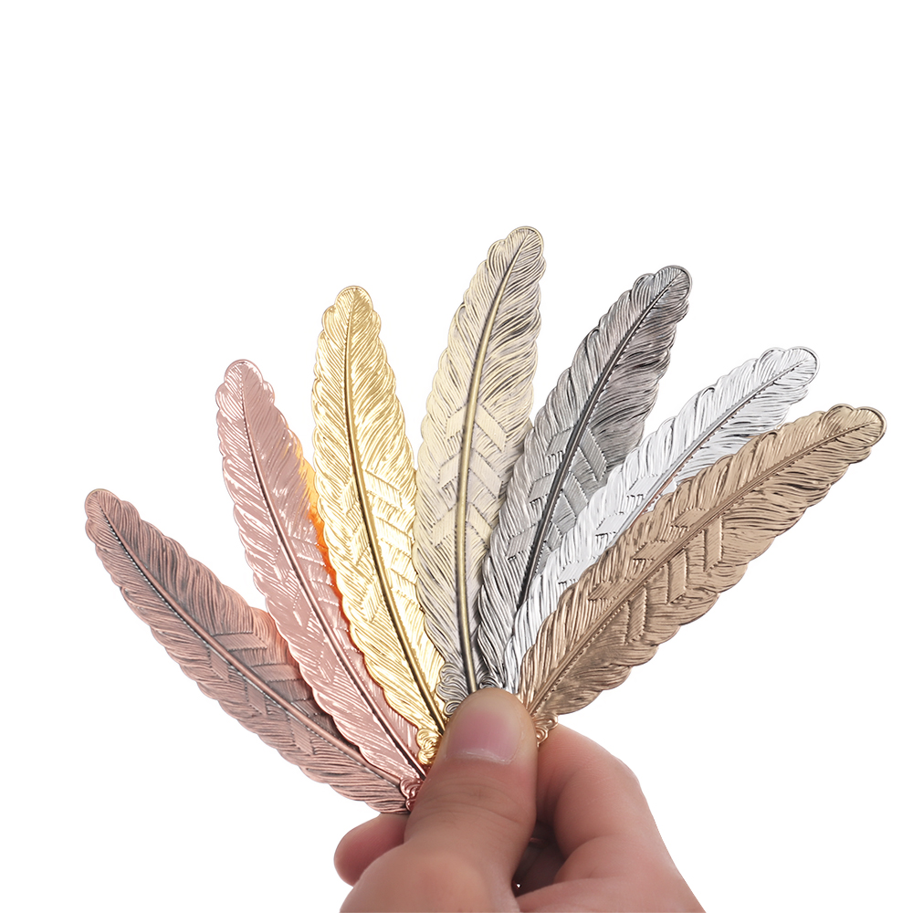 1PC Metal Feather Bookmark Chinese Style Vintage Page Nice Cool Book Markers Fashion School Supplies DIY Crafts Gifts