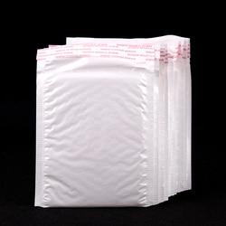 10 Stks/pak 160*140Mm Witte Parel Film Bubble Envelop Koerier Tassen Waterdichte Verpakking Mailing Zakken Business Supplies
