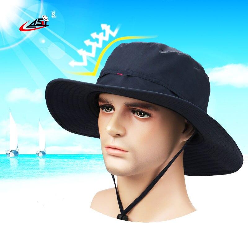 Asy Venta Directa Pesca sombrero impermeable transpirable azul oscuro  unisex Bob de senderismo sombrero al aire libre gorro poliéster cubo  sombrero en ... 55eb552c06a