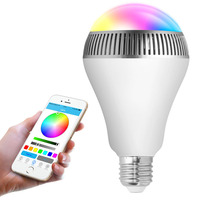 Altavoz Del Bluetooth sin hilos LLEVÓ la Luz de Bulbo 110 V-240 V E27 Lámpara de Audio Altavoz Para Android iPhone 4S/5S/6 de CLH @ 8