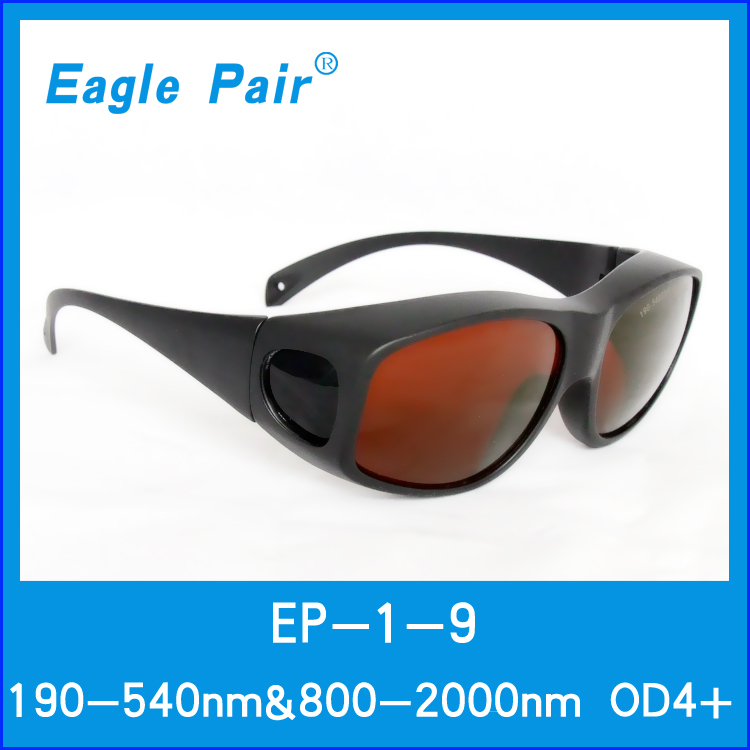 190-540/&800-2000nm Laser Protective Goggles Glasses CE Eaglepair EP-1-9 OD4