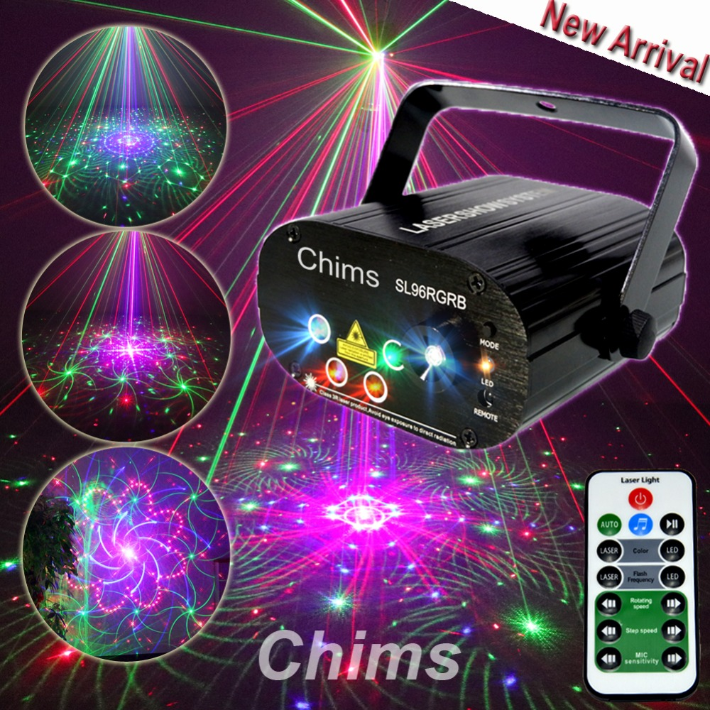 Chims RGB Stage Light Party font b Laser b font Light 96 Pattern font b Laser