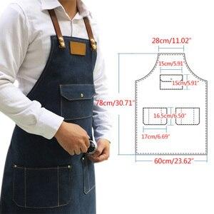 Image 5 - Kadın erkek kolsuz önlük mutfak şefi önlük Denim önlük restoran pişirme önlük mutfak şef üniforma çalışma kıyafetleri