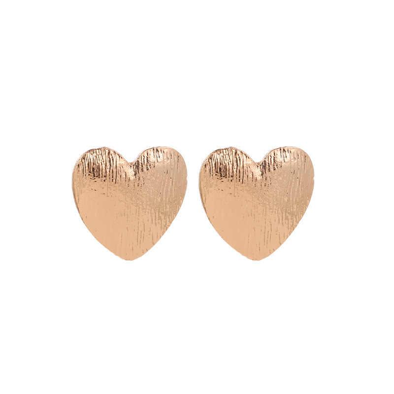 جديد الأقراط المرأة الخوخ القلب القلب حلَق أذن مجموعة شعبية الذهب الأقراط الجملة أقراط للنساء الخواتم مجوهرات الأزياء