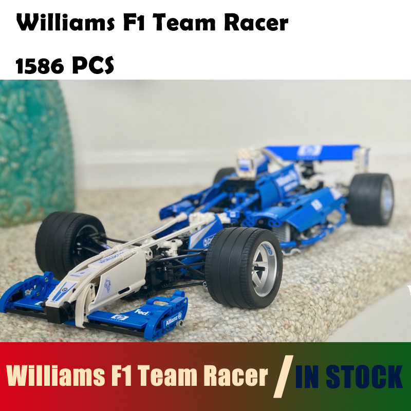 compatible with lego Technic Series 20022 1586Pcs Model Building Blocks toys Williams F1 Team Racer 8461 DIY toys & hobbies цена