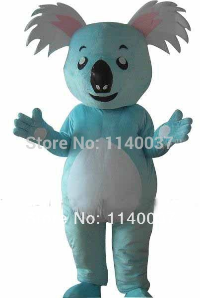 NO.1 MASCOT Professional Light Blue Koala Mascot Costume Cartoon Character Koala Costumes Fancy Dress Carnival Costume