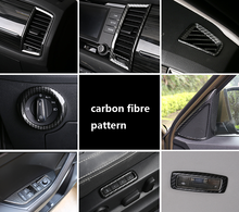 for SKODA KODIAQ Outlet decoration frame Headlight switch Seat Door button panel carbon fibre