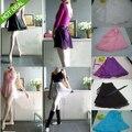 Women Teenagers Chiffon Ballet Tutu Skirt Dance Skate Wrap Scarf Leotards Girls Underdress Gym Skirt 8Colors Free Shipping