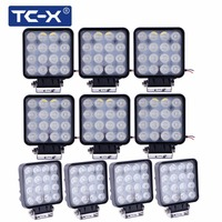 10 PCS Wholesale 12V 24V 48W LED Work Lights Square Offroad LED Extra Light Portable Flood