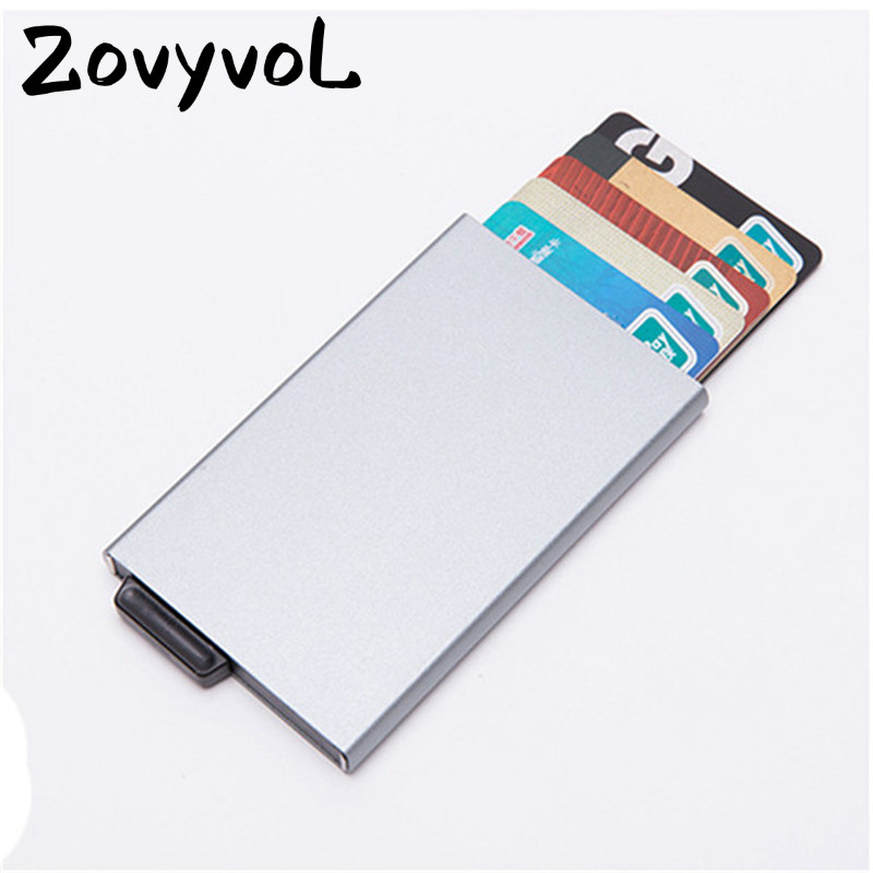 ZOVYVOL 2019 NEW Business Credit Card Holders Aluminum Women and Men RFID ID Wallets Casual High Quality Card Holders hot sale in Card ID Holders from Luggage Bags
