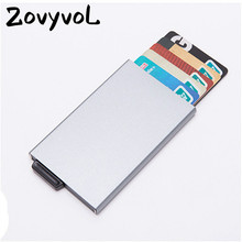 ZOVYVOL 2019 NEW Business Credit Card Holders Aluminum Women and Men RFID ID Wallets Casual High Quality hot sale