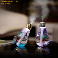 Mini Humidifier DC 5V Home Air Diffuser USB Portable Bulb Design Mist Maker 400ML Fogger