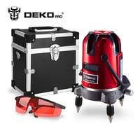 DEKOPRO 5 Lines 6 Points Laser Level Automatic Self Leveling 360 Vertical&Horizontal Tilt & Outdoor Mode can use w/ Receiver