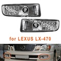 Fog Lights for Lexus LX470 1998 - 2007 LED Turn Clear Driving Lamps left + Right sides