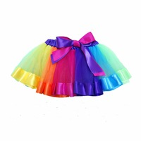 Cute Baby Girl Skirt Colorful Rainbow Tutu Skirts Custome For Party Wedding Dance Kids Clothing