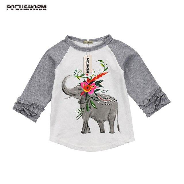 f75f19c795 Cute baby Boys girl long sleeve t shirt Cotton T-Shirts Casual Kids  Clothing Animal Printed Top Tees Boys T Shirt