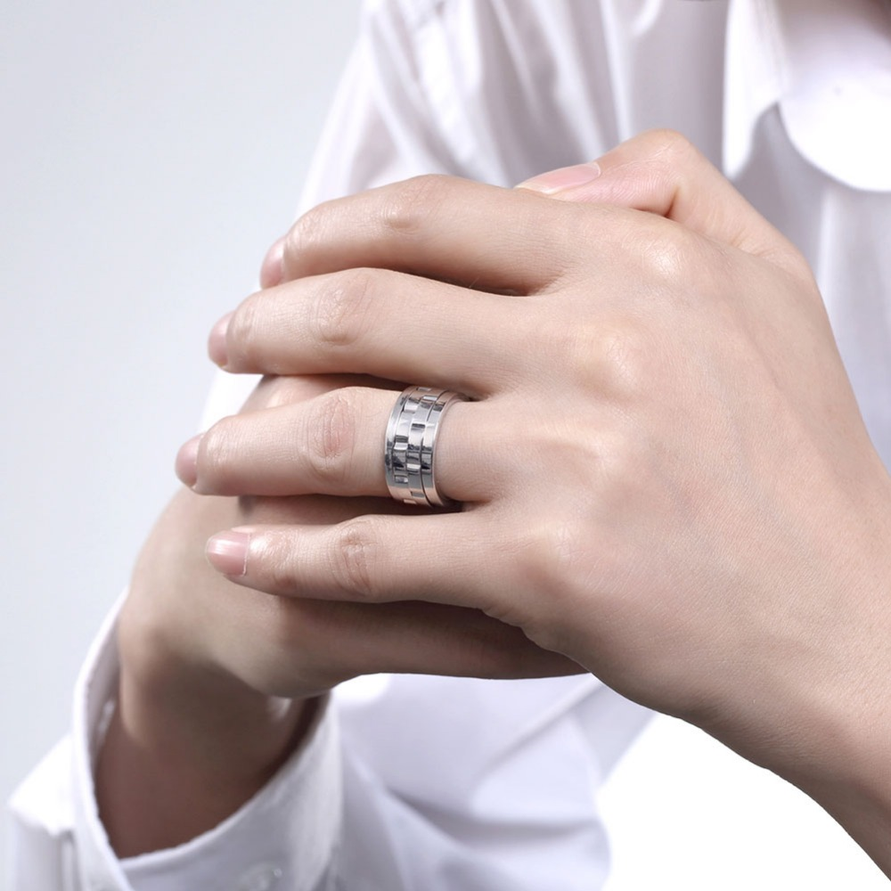 Charms Wedding Titanium Ring Jewellery Aneis Masculinos Stainless ...