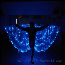 New Design Flashing Glowing LED Light-up Luminous Bule Color Costumes Cloak Suits For DJ Dancing Stage Wear DHL Free Shipping
