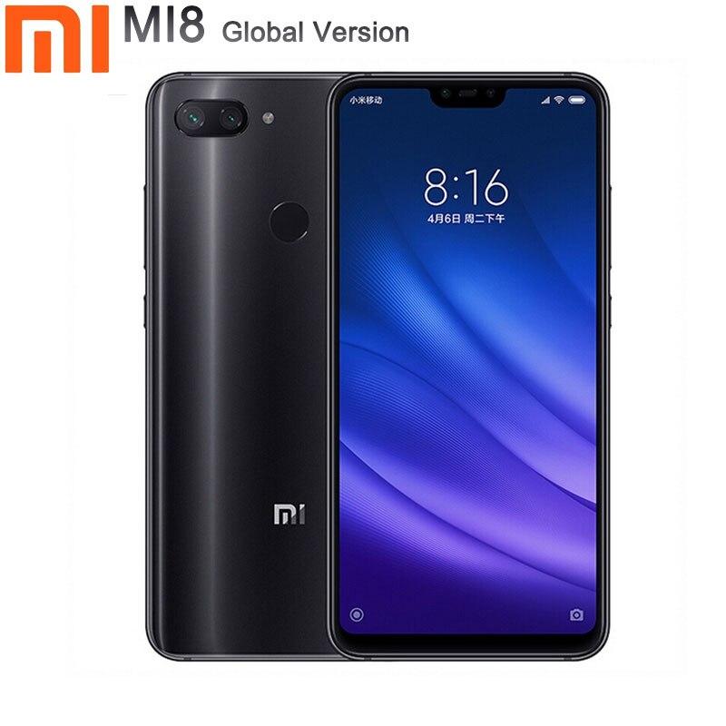 Xiaomi mi 8 smartphone Version globale 4GB RAM 64GB ROM téléphone portable 6.26 pouces Octa Core 24 MP caméra frontale mi 8 lite téléphone