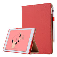 For iPad Pro 12.9 2017 2015 Snow Business Smart Tablet Case Cover High Quality PU Leather Folding Stand+Card Slot+Pencil Holder