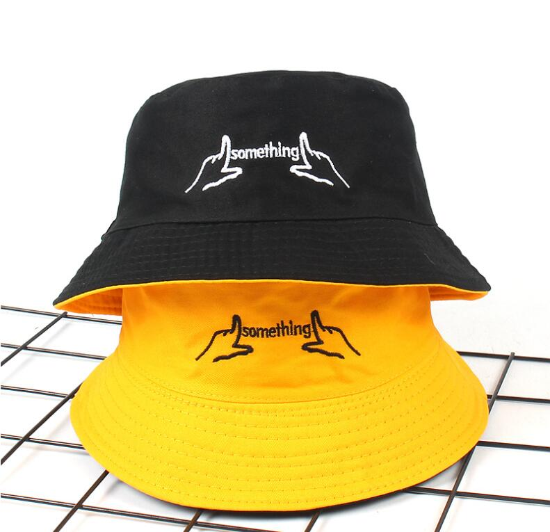 b206574988e Two Side Reversible black white Bucket Hat men women Chapeau ...