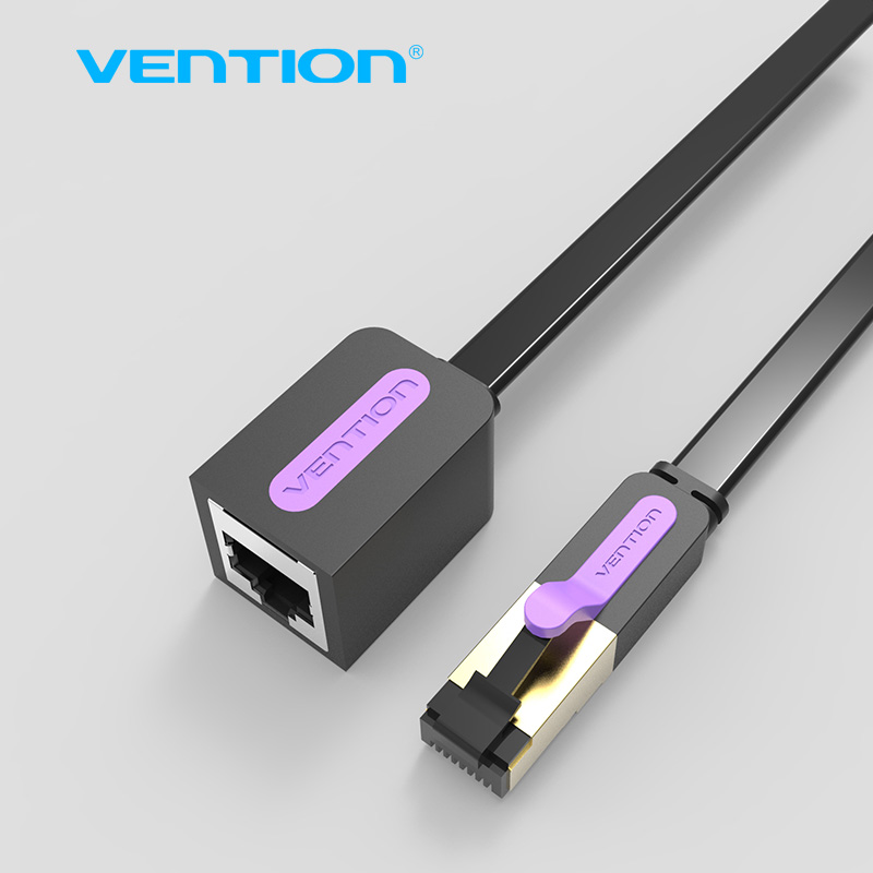 Vention RJ45 CAT 7 Male to Female Ethernet Lan Network Extension Cable Lan Network Adapter 1m 1.5m 2m 3m 5m Cord for PC Laptop 10cm 30cm 50cm cat5e cat 5 cat 6 ethernet utp network male to male cable gigabit patch cord rj45 twisted pair gige lan cable